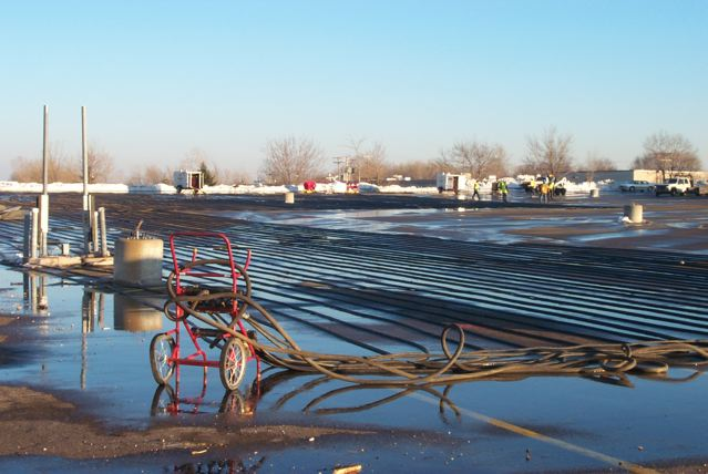 Hydronic Curing Systems Heated Concrete Blankets